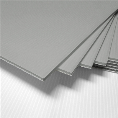 18 Quot X 24 Quot Blank Corrugated Plastic Sheets Silver